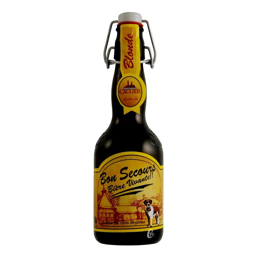 Bouteille de bière Bon secours Blonde 8° (Bière)