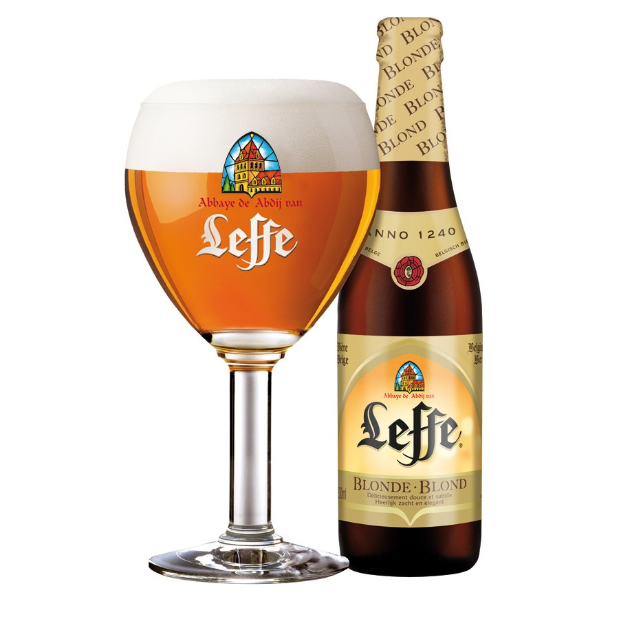 Bouteille de bière Leffe blonde 6.6