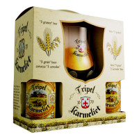Bouteille de bière Coffret Karmeliet 4 bt 1verre