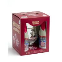 Coffret Bière Delirium Noël (10° - 2x75cl + 1 verre 33cl)
